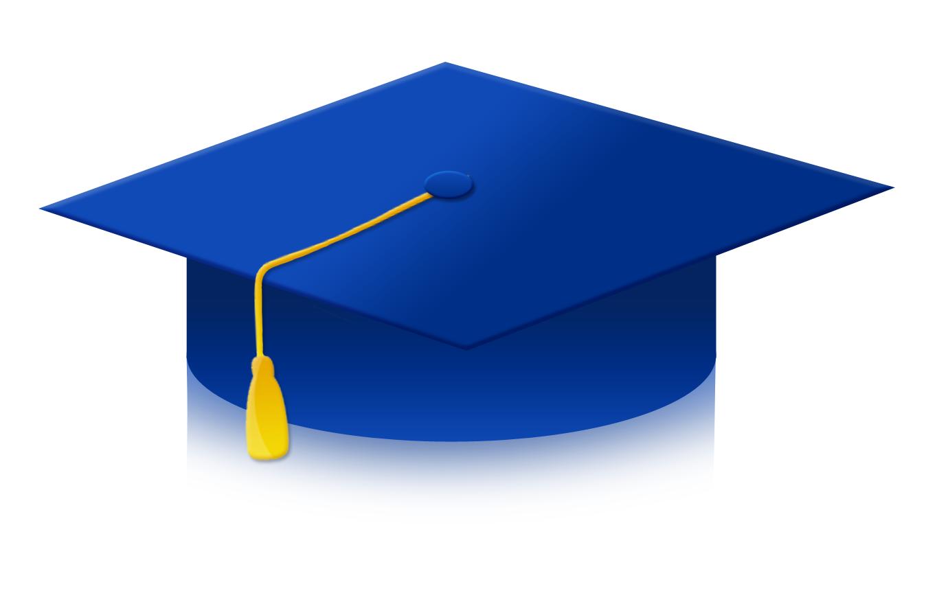 Blue graduation cap clipart 4 » Clipart Station.