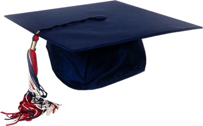 Blue Graduation Cap transparent PNG.