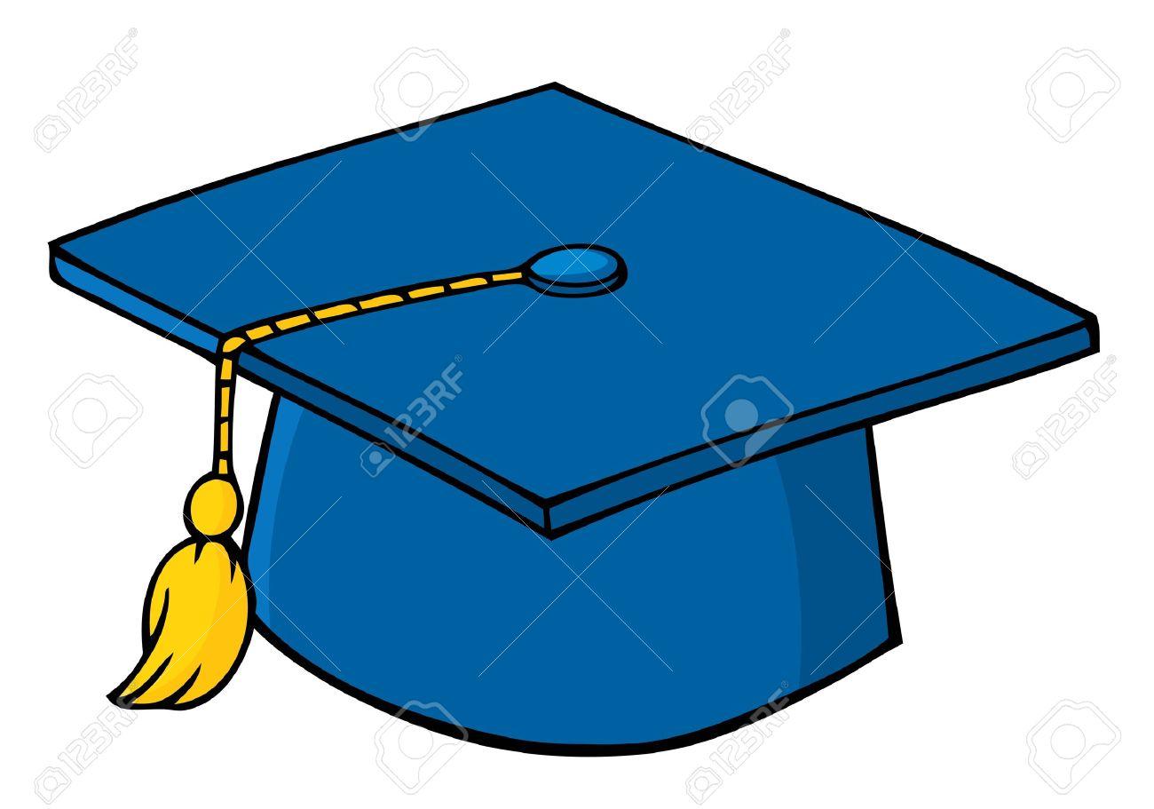 Blue Graduation Cap.