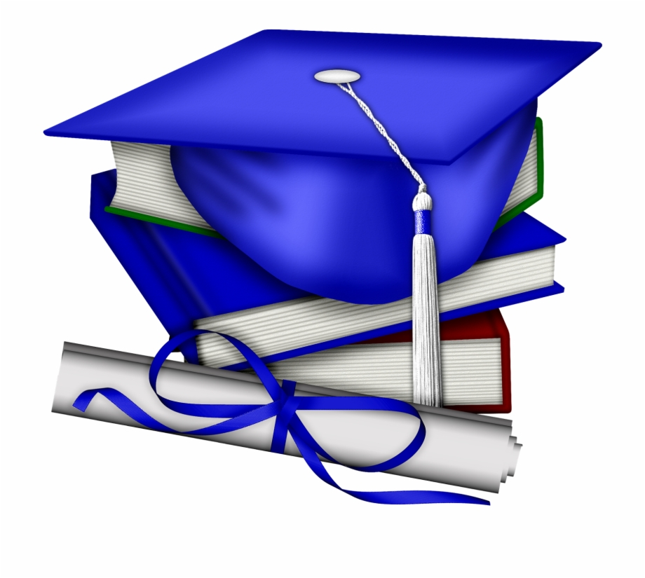Graduation Cap Red And Blue Free PNG Images & Clipart Download.