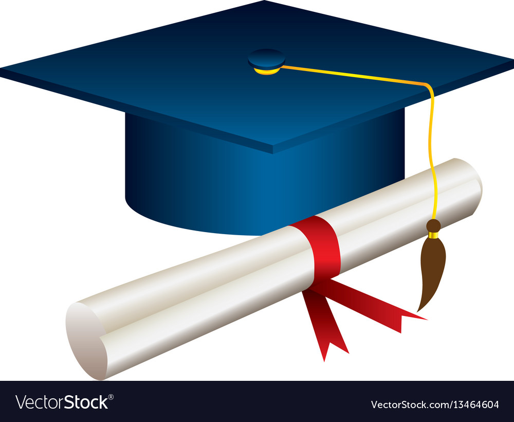 Graduation Hat And Diploma Clipart.