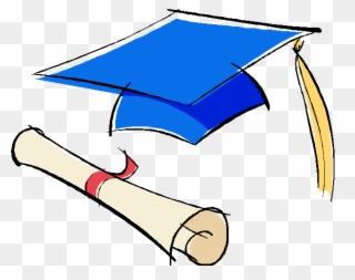 Free PNG Blue Graduation Cap Clip Art Download.