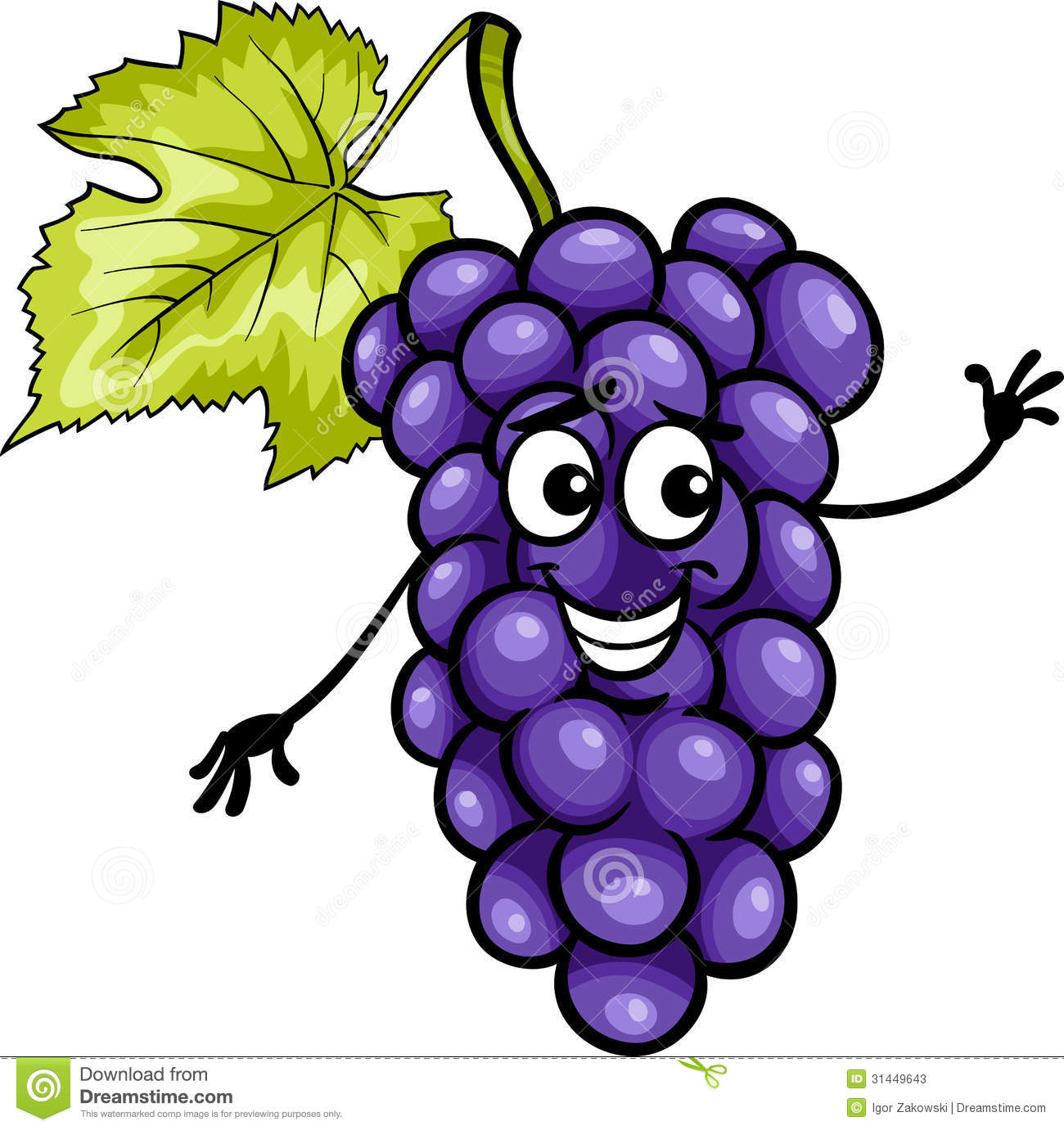 Cartoon grapes clipart.