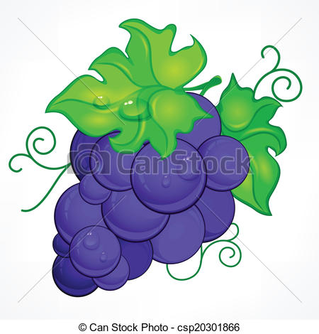 Blue grapes clipart #1