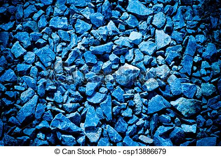 Stock Illustrations of Blue crushed stone as a background.