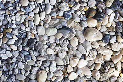 Gravel Background, Rock Pieces Texture Stock Photo.