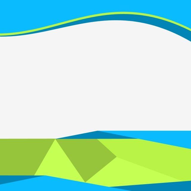 Modern Business Banner Flyer Material, Business, Green, Blue.