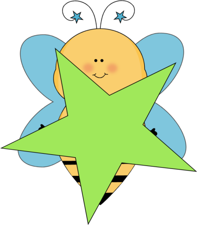 Blue and green stars clipart.