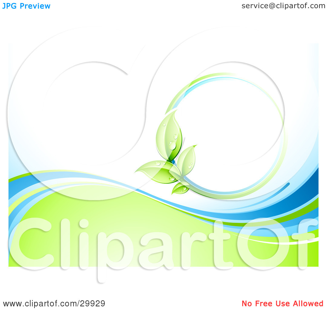 Blue and green clipart.