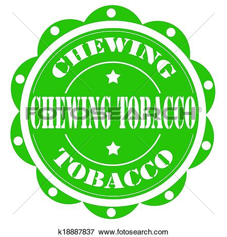 Clip Art of Chewing Tobacco.