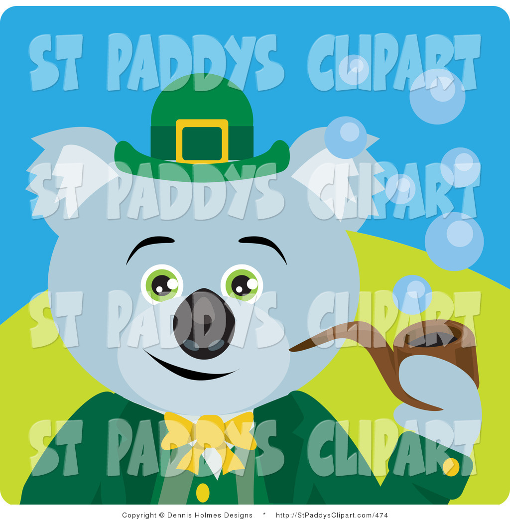 Royalty Free Tobacco Pipe Stock St. Paddy&s Day Designs.
