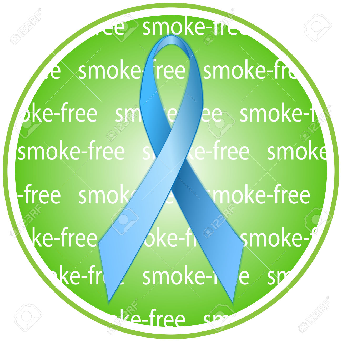 Blue Ribbon As A Symbol Of Anti.