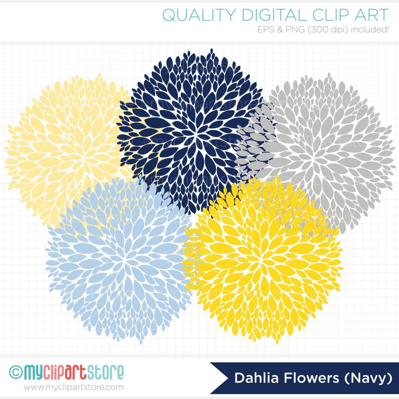 Dahlia clip art.