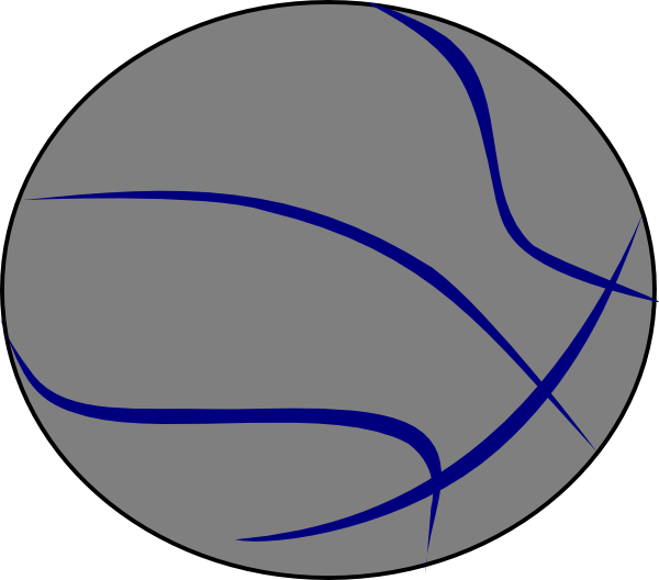 Grey Blue Basketball Clip Art at Clker.com.