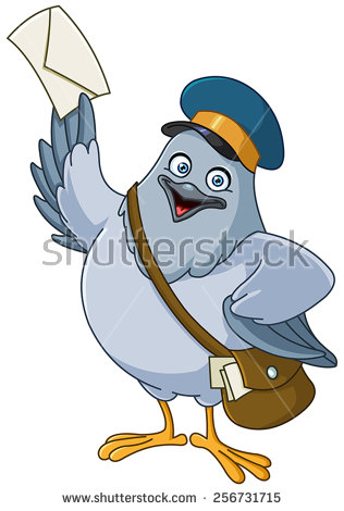 Messenger Pigeon Stock Images, Royalty.