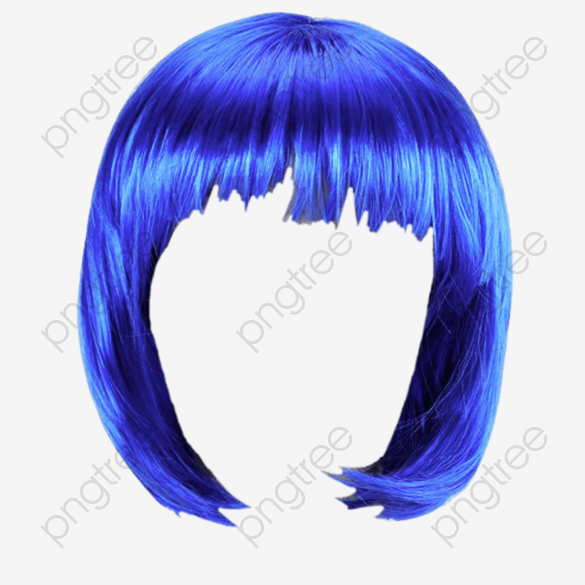 Blue Hair, Blue, Wig, Short Hair PNG Transparent Clipart Image and.