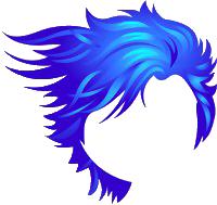 Underwater Fluid Hair Blue.