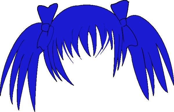 Blue hair clipart.