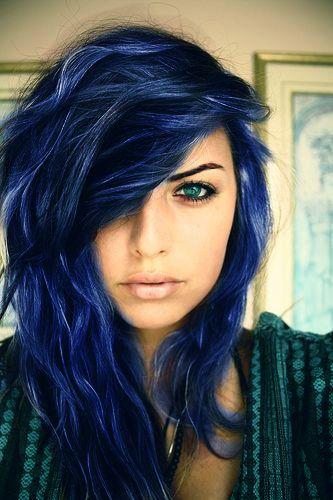 Midnight Blue Black Hair Dye Best Picture Of Blue Imageve Org