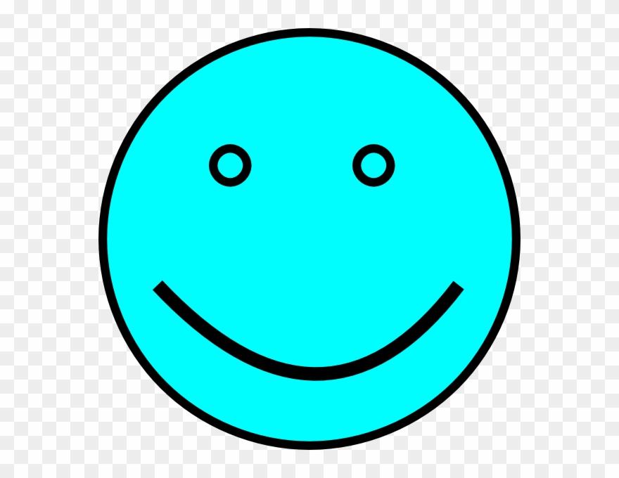 Light Blue Smiley Face Clipart (#110760).