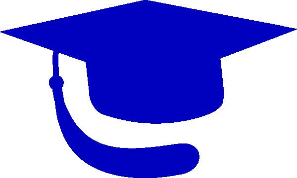 Blue graduation hat clipart.