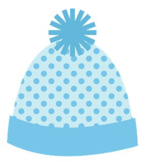 WINTER BLUE HAT CLIP ART.