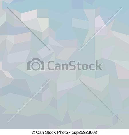 Vector Clipart of Blue Haze Abstract Low Polygon Background.