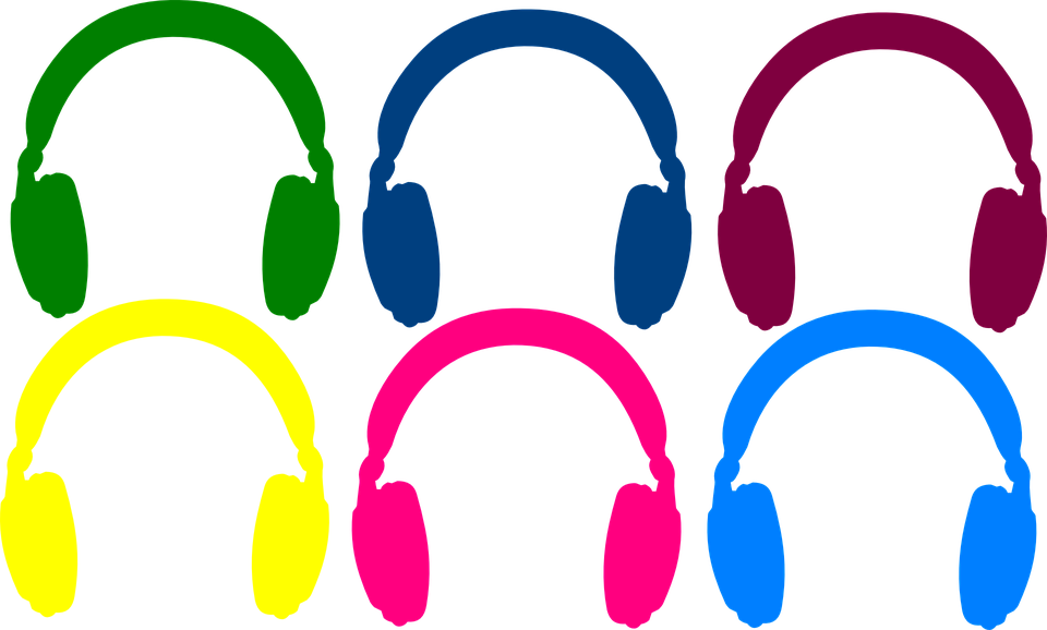 Free vector graphic: Music, Musical, Headphones, Sound.