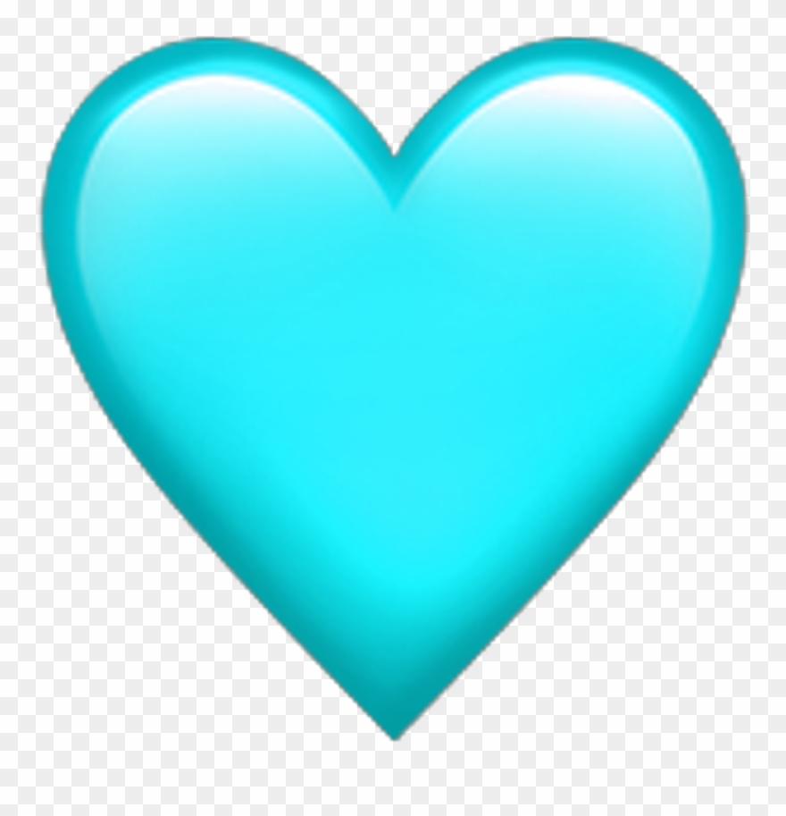 Teal Heart Emoji Transparentbackground Teal Heart Emoji.