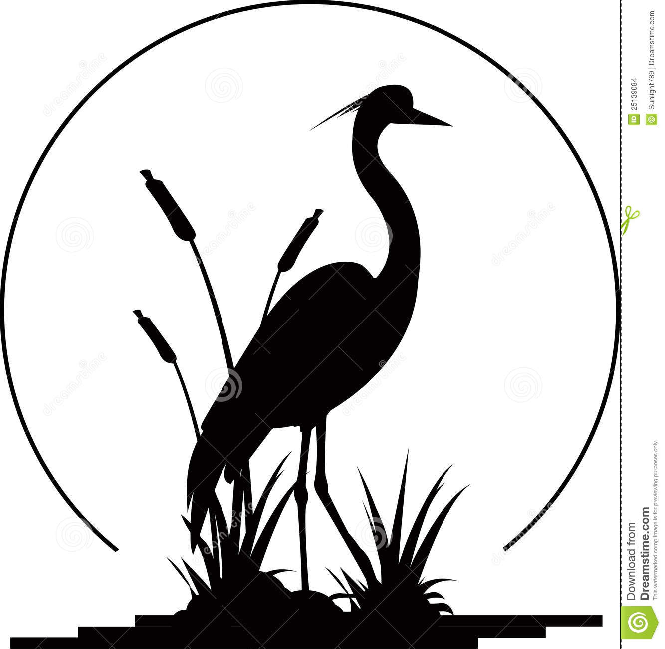 Blue heron silhouette clip art.