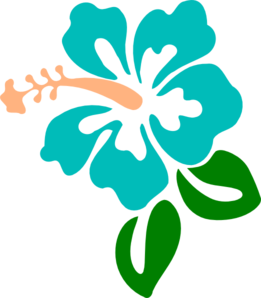 Hibiscus Blue Clip Art at Clker.com.