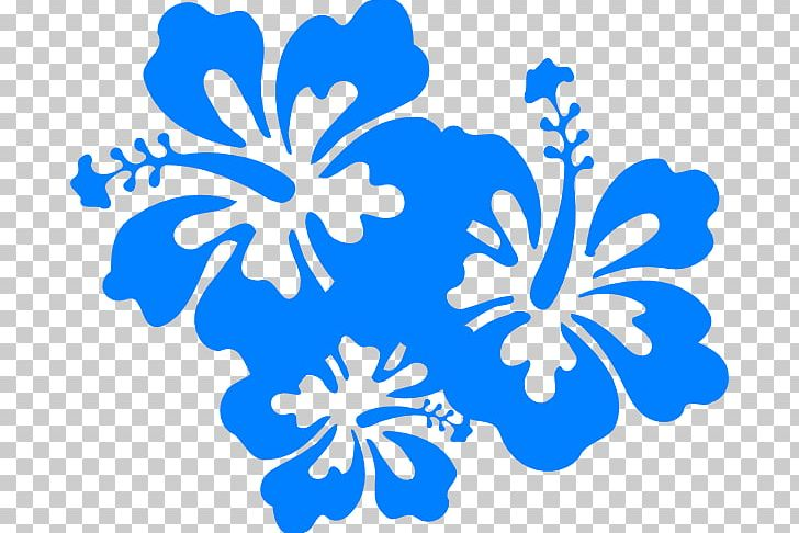 Hawaiian Flower PNG, Clipart, Area, Black And White, Blue, Blue.