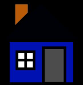 Blue home clipart.