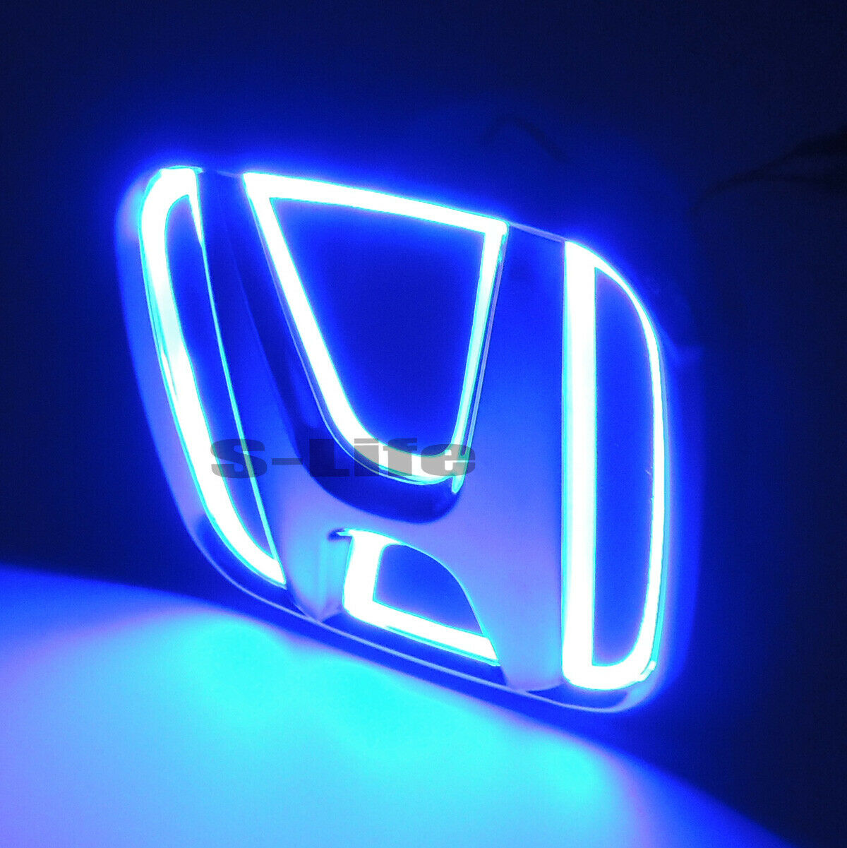 Details about Blue Auto 5D LED Car Tail Logo Light Badge Emblem For Honda  New FIt 09.
