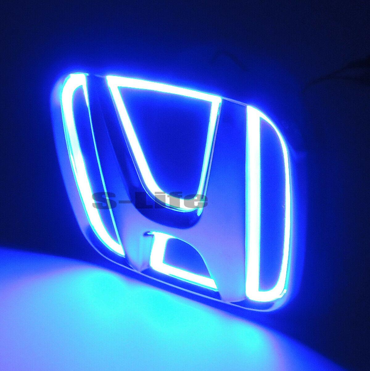 Details about Blue Auto 5D LED Car Tail Logo Light Badge Emblem For Honda  New FIt 09.
