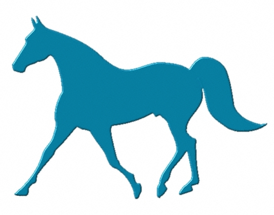 Blue Horse Cliparts.
