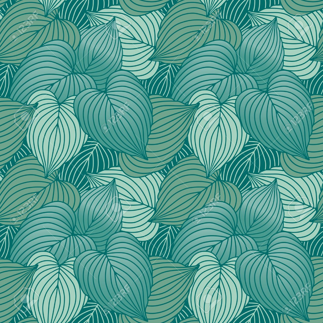 Vector Seamless Pattern Of Blue.