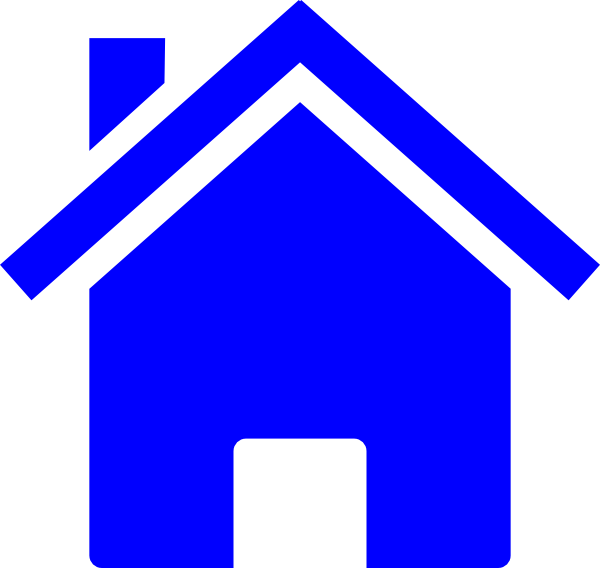 Simple Blue House Clip Art at Clker.com.