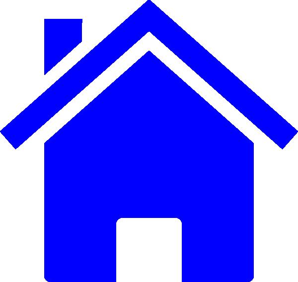 Simple Blue House Clip Art at Clker.com.