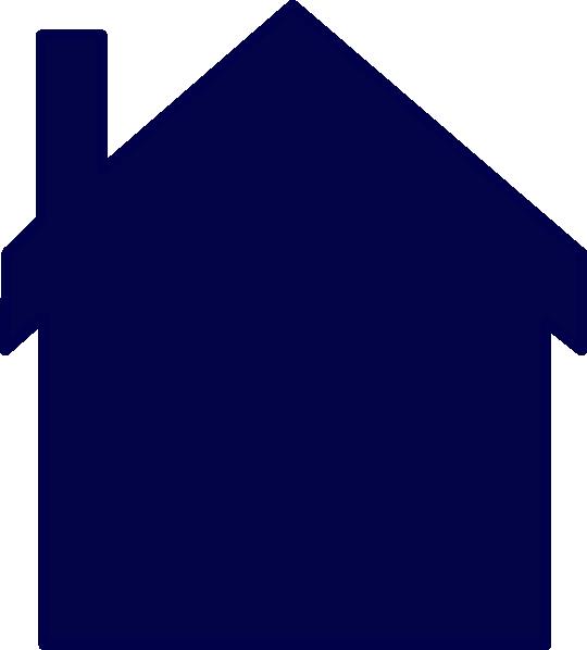 Blue House Clipart.