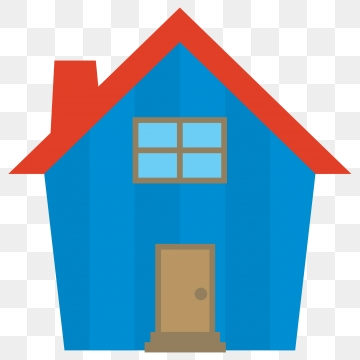 Blue House Png, Vector, PSD, and Clipart With Transparent Background.
