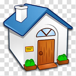 Refresh CL Icons , Home, white and blue house illustration.