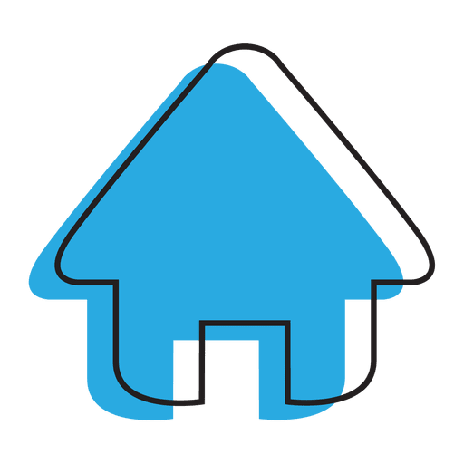 Home blue house icon.