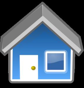 Blue House Clip Art at Clker.com.