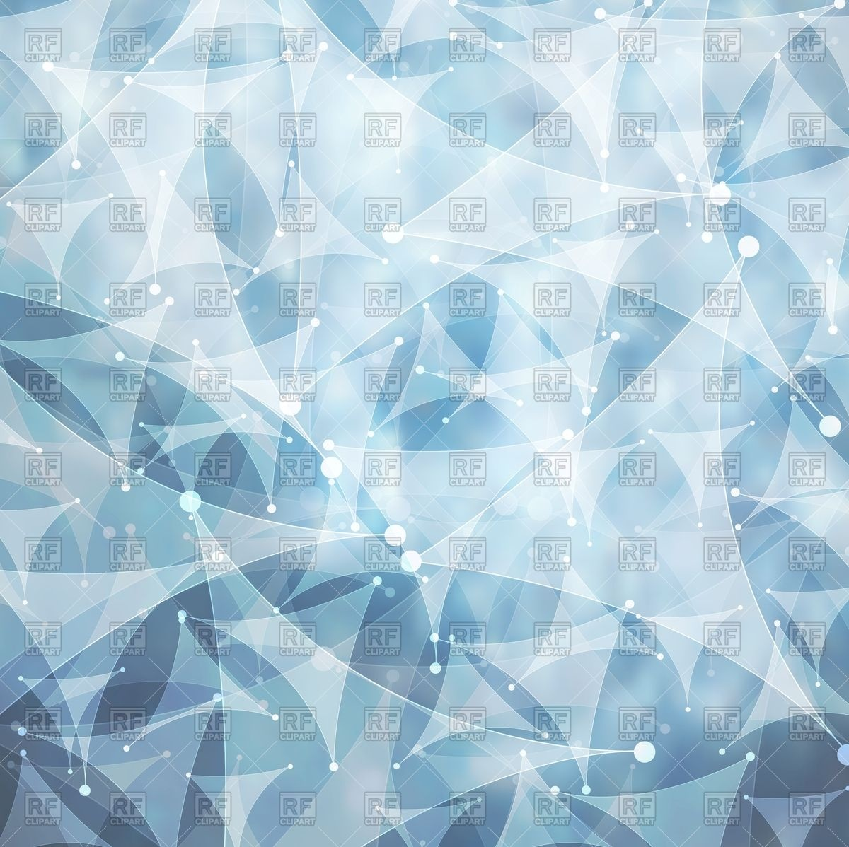 Polygonal tech background in blue hues Vector Image #130689.
