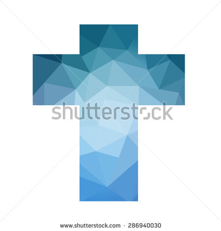 Easter Cross Clip Art Isolated On Stock Illustration 249607786.