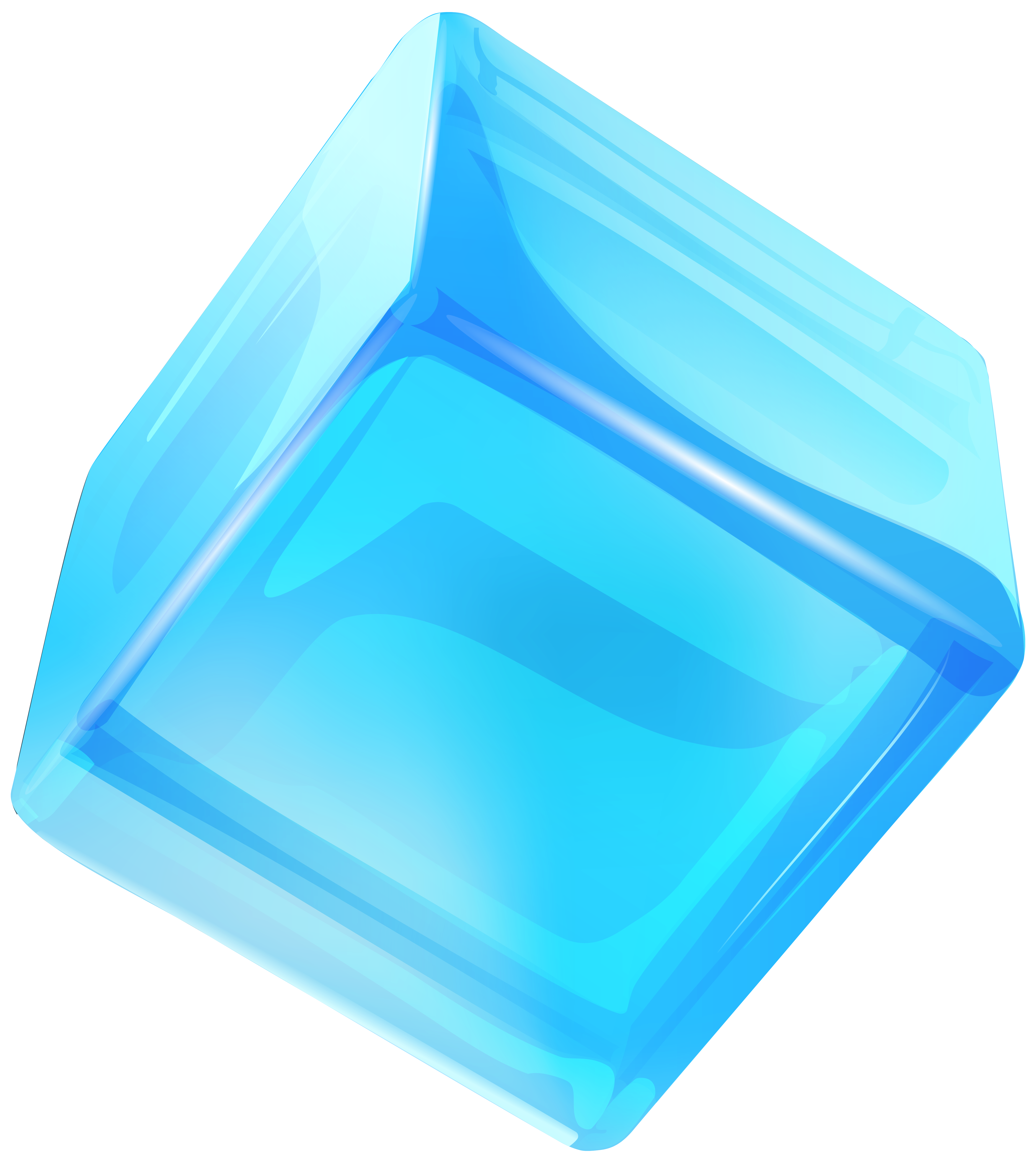 Blue Ice Cube PNG Clip Art.