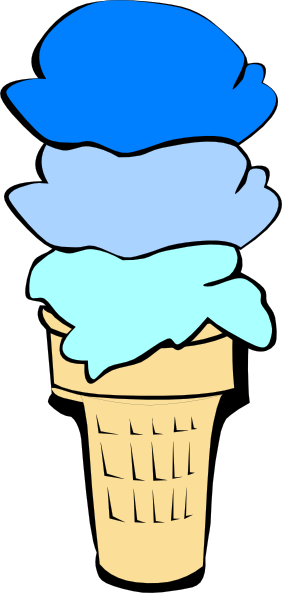 Blue Ice Cream Clipart.