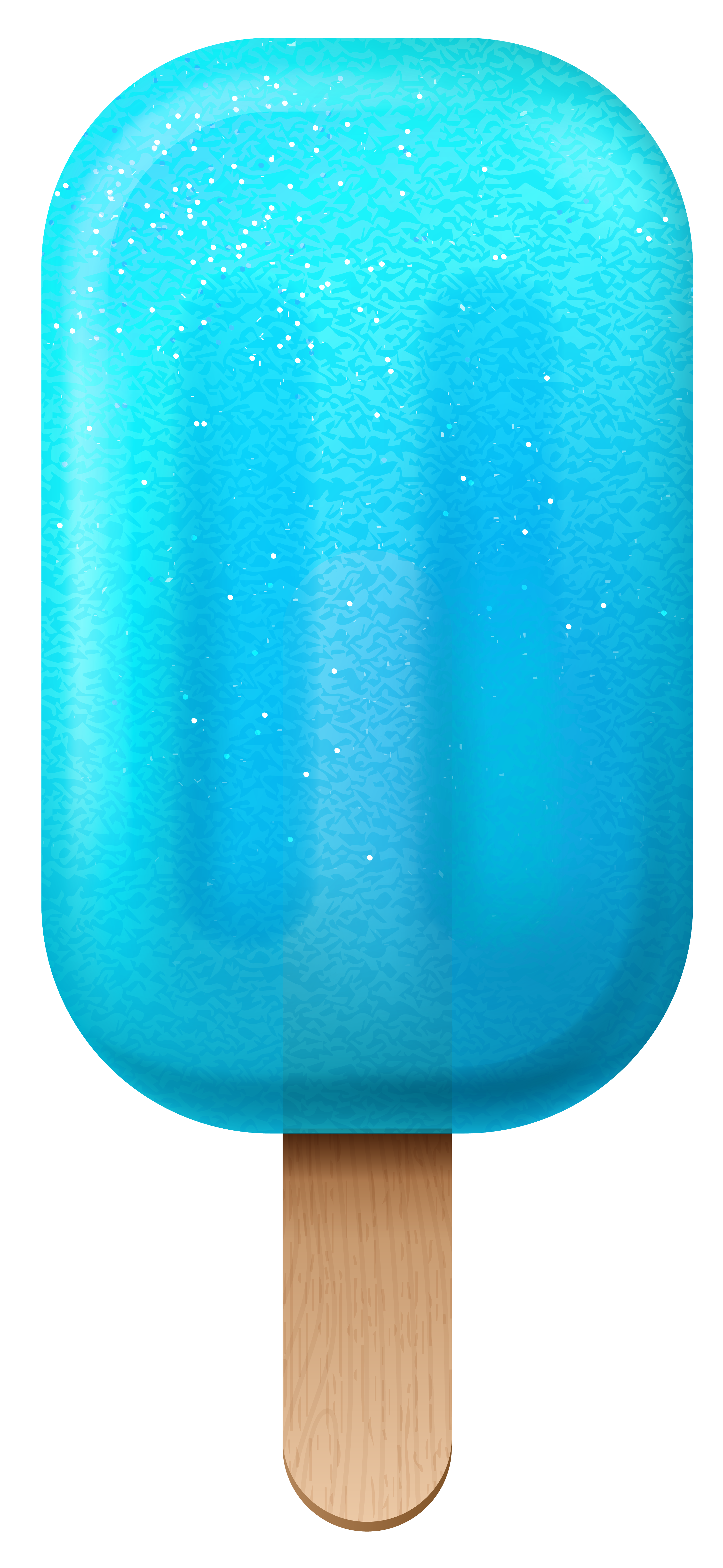 Blue Ice Cream PNG Clipart Image.