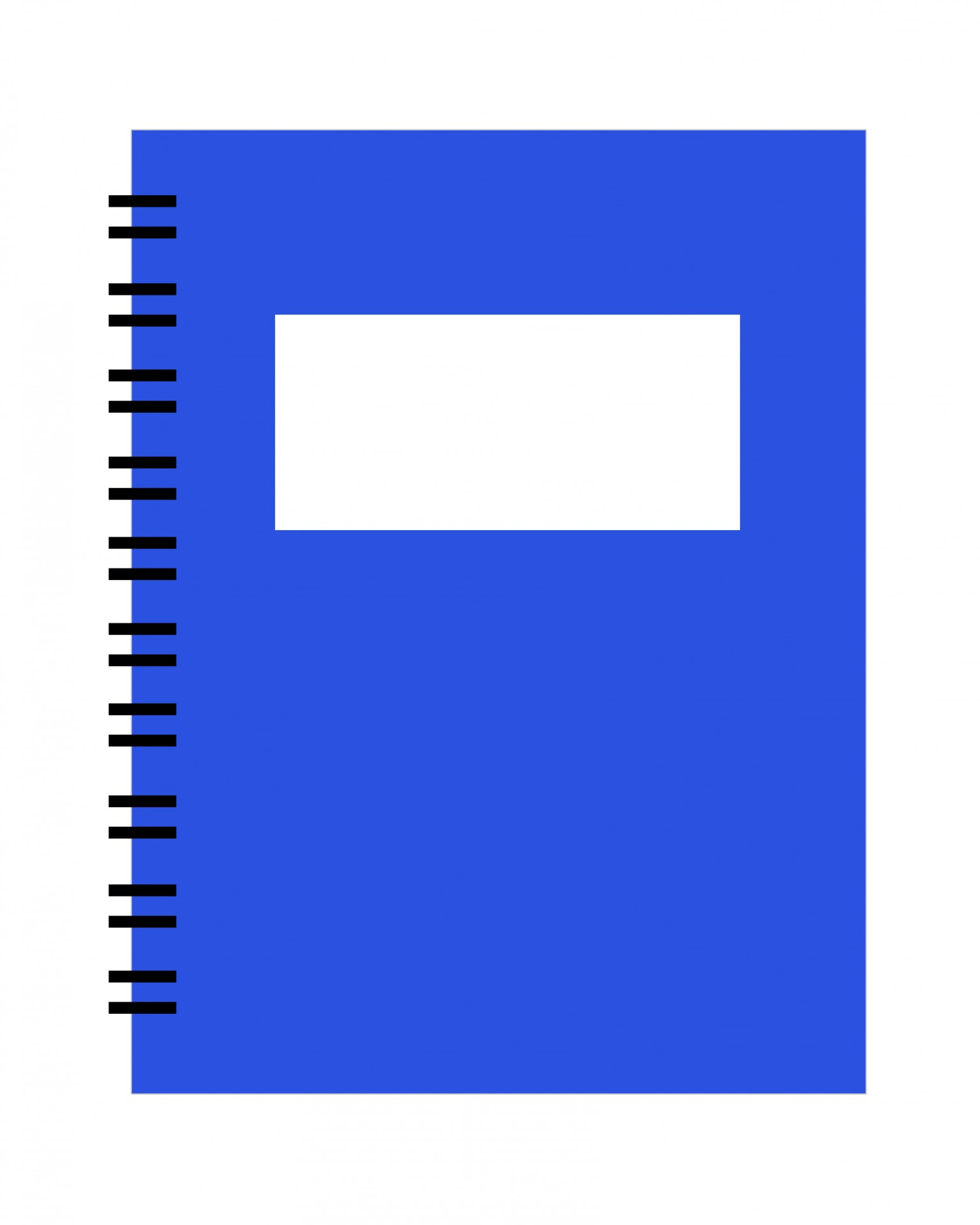 Spiral Notebook Blue Clipart Free Stock Photo.